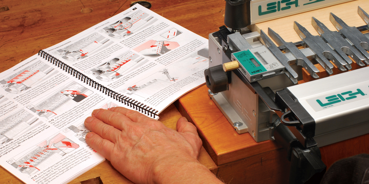 Step-by-step user guides Dovetail Jig