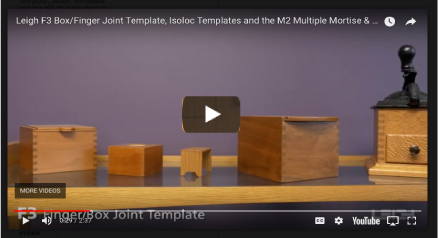 picture about Printable Dovetail Template titled F3 Finger / Box Joint - Information - Leigh Dovetail Jigs and