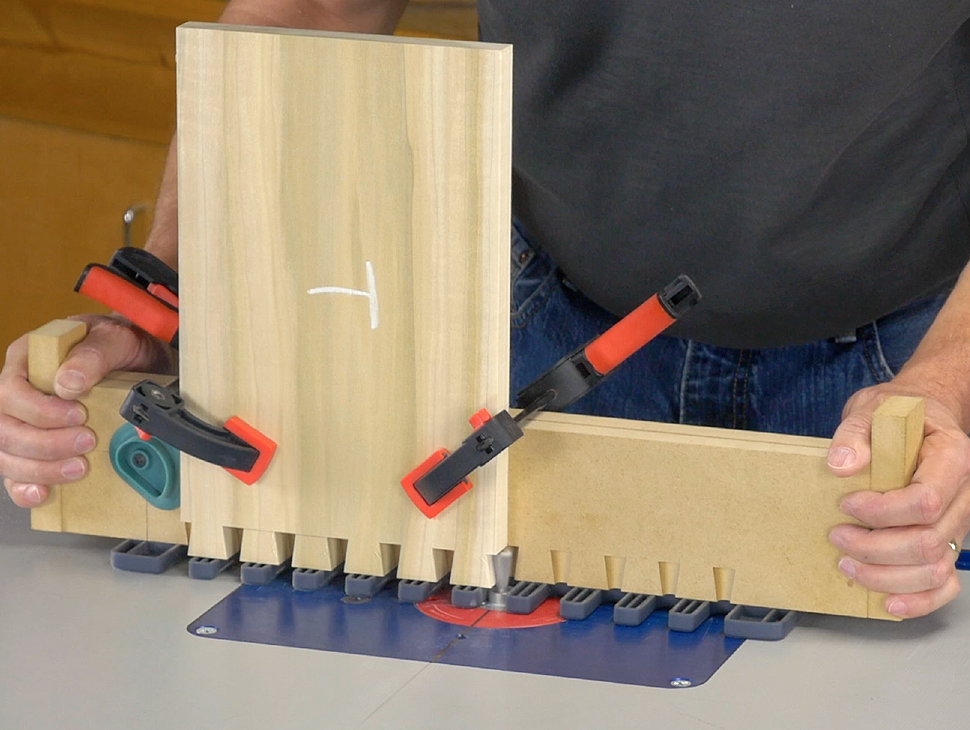 guide the jig against the guidebush