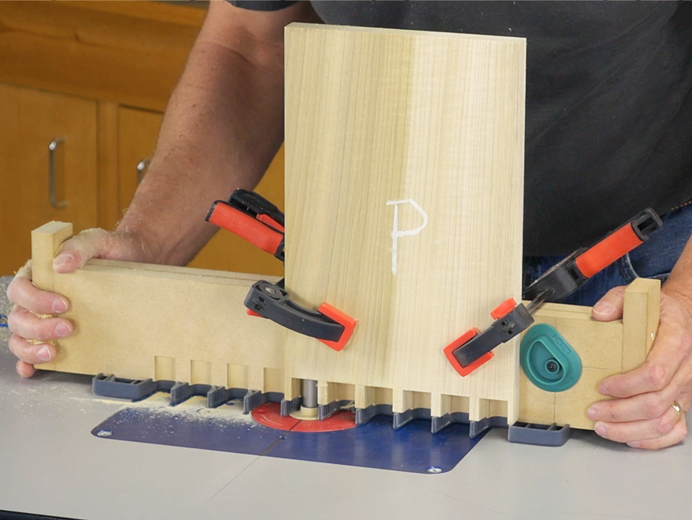 pin boards clamped