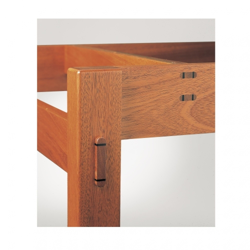Through twin tenons and raised through tenon on Leigh tool storage cabinet.