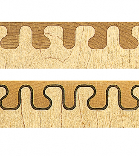Top Mirror Key pattern. Bottom Inlaid Mirror Key.