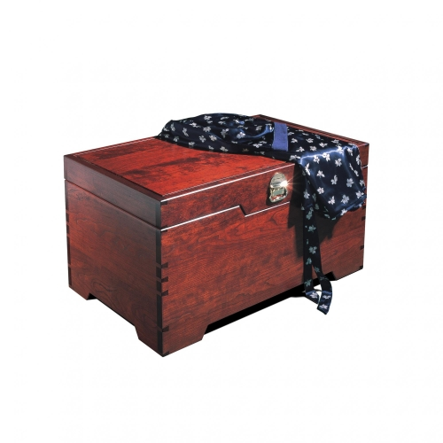 Blanket Chest in cherry with dovetails. 36 12W x 22D x 18H
