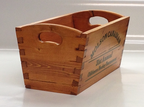 Crate with Angled Through Dovetails, Joe Schultz of Slave Lake, Alberta
