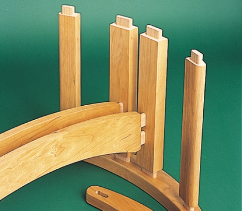 Exploded view of Coffee Table in cherry.
