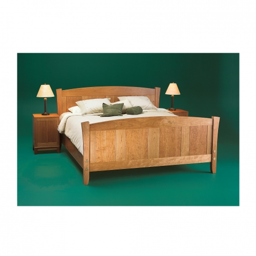 MT Bed and bedside tables green bkgd 28x28 72