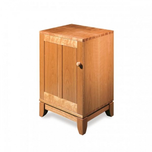 "Shaker style bedside table with rail & stile (frame & panel) joinery. Cherry. 27""H x 18W x 15D"