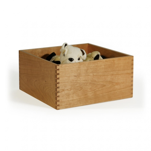 Storage box in cherry with half pitch through Dovetails 7-1316H x 16W x 16D