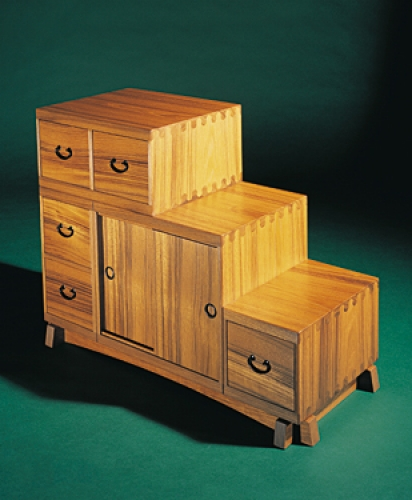 Tansu Chest in teak with Isoloc Ellipse joinery. 18H x 24W x 10D