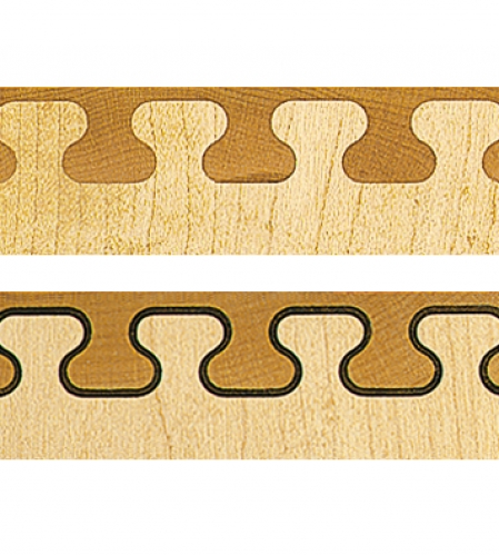 Top Key joint pattern. Bottom Inlaid Key joint pattern.