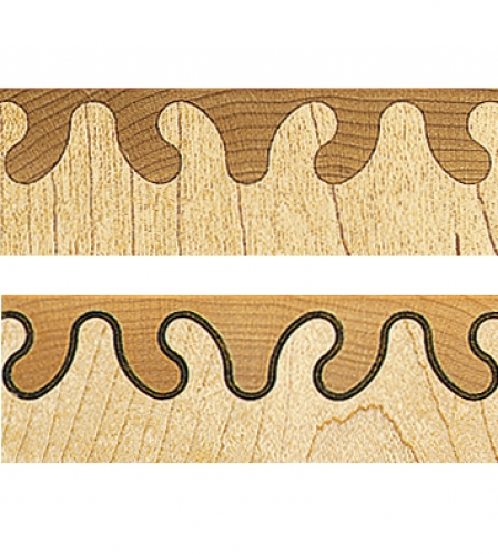 Top Wave joint pattern. Bottom Inlaid Wave joint pattern.