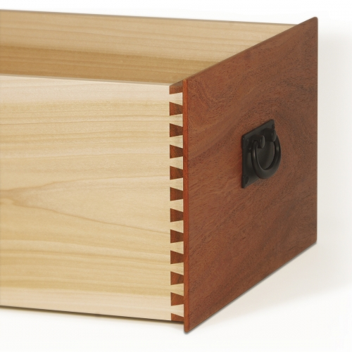 Mahogany Drawer - Single Pass Half Blind Dovetails