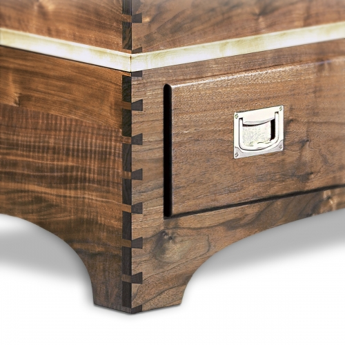 Walnut Chest - Fixed Pitch Through Dovetails